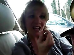 Granny Jasmine Shows Withdraw Her Oral Wit concerning a Car Again!