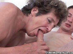 Blarney hungry grandma loves anal sex