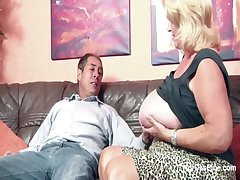 Monster Titty Granny From SEXDATEMILF.COM fucks Chubby Dick Grandpa all over Casting