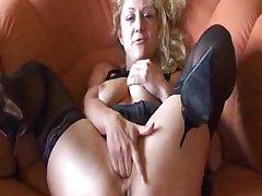 German Amateur Granny Masturbates mature mature porn granny age-old cumshots cumshot