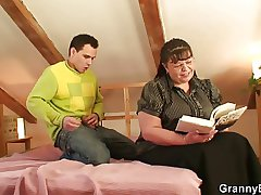 Nerdy granny is best-liked up and fucked