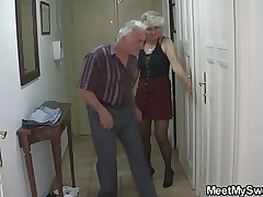 Boyfriend finds her fucking his superannuated parents