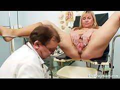 Big tits gold mature hairy pussy exam
