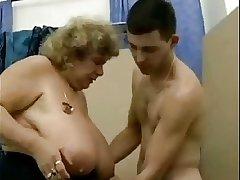 Big titty German granny