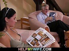 Cuckolding dumfound for blue wife
