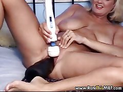 Lose milf cunt on every side gigantic Stygian dildo in her pussy