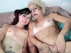 Very aged granny woman and young horny girl