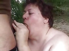 Dirty BBW Granny Fucked Out like a light