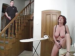 Redhead Granny-Beauty Anal In excess of Stairs