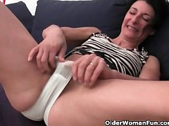 Victorian granny has a wet spot in the matter of her panties