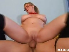 Hot granny teaches young stud how on earth to fuck