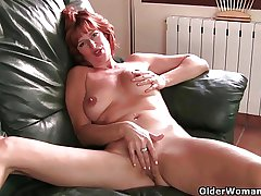 British milf Liddy masturbates and gets finger fucked