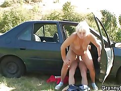 Motor boots bangs granny whore