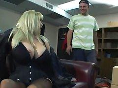 Blonde grown up sex bomb less enormous tits