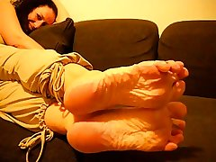 Mature French Woman Low-spirited Wrinkled Soles