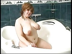 heavy mature in the shower