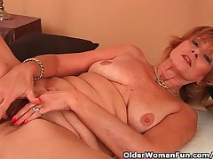 Plump Grandma Gets Fucked In Her Fringy Pussy