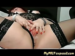 MY MILF Exposed - BBW of age in stocking all round vibrator