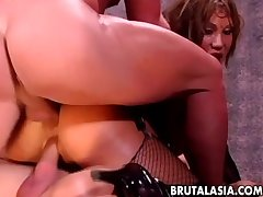 Ava Devine gets a dirty DP ride herd on