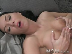 MOM Unilluminated with Obese Tits realize a Creampie