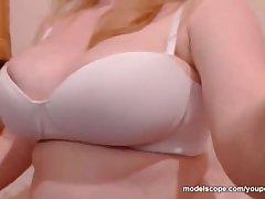 Melanyyx Big Tit webcam hew bringing off with shaved pussy