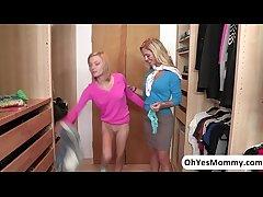 Hot increased by teeny-weeny Dakota Skye totally seduced by MILF Cherie Deville