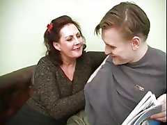 Hot Russian Mature loves young bushwa added to cum