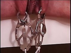 Mature big gut brunette in in flames latex, bound & enjoying her BDSM session