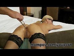 Blonde milf gets fucked in her bore