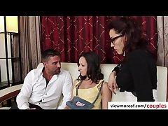 Erotic triplet with bosomy hot teen pornstar Jada Stevens