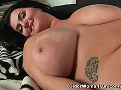 Soccer moms with innocent obese tits having matchless coition