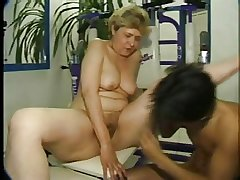 mature fucked in an obstacle gym
