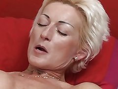 Sexy Blonde Mature fucks young suppliant