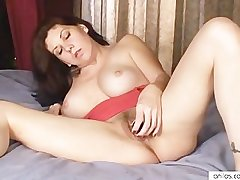 Busty materfamilias loves toys with hairy pussy