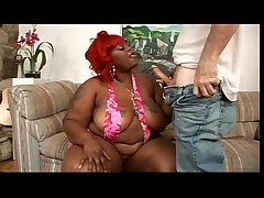Ebony BBW coupled with sallow guy