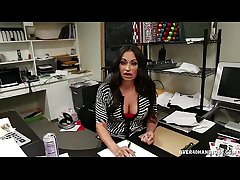 Mature Latina Hanjob At one's fingertips The Office