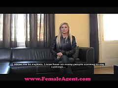 FemaleAgent Overrefined blonde bombshell
