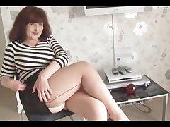Big interior full-grown in short skirt and stockings
