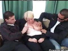 Busty Mature  Is White-haired Close by And Fucked At the end of one's tether A Several Randy Guys of age mature porn granny age-old cumshots cumshot
