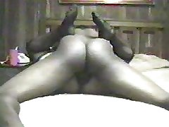 Mature Blonde BBW in Stockings squirts atop BBC
