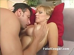 Bigtits older floosie in pantyhose gags superior to before fat dick and gives tight titjob