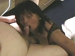 Mature Layman Asian Gives Blowjob