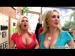 CFNM Tanya Tate creampied down fourway fun