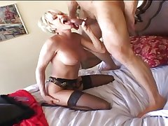 Cur� - Mature Blond plays then gets fucked