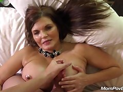 Big boob native land MILF rides load of shit BTS
