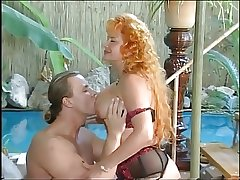 Hot Redhead Matured fuckin by chum around with annoy pool