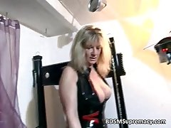 Blonde mature mistress plays just about her