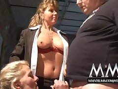 MMV Films Mature clasp having blistering sex