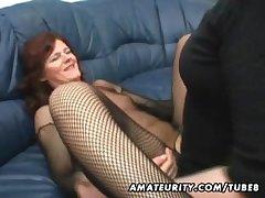 Amateur Milf homemade anal around creampie