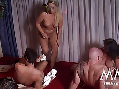 MMV FILMS Hot Dabbler German Mature Swinger Party